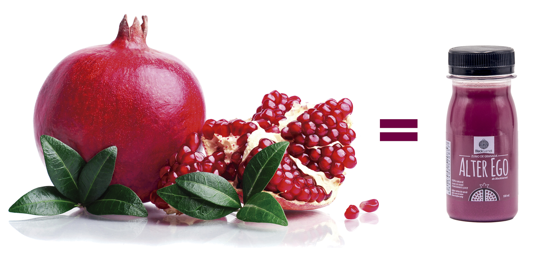 a bottle of juice is equal to a pomegranate